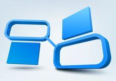 Abstracte 3d frames Royalty-vrije Stock Afbeelding