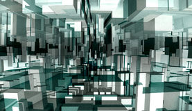 Abstracte 3d illustratie stock illustratie
