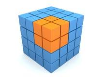 Abstracte 3d kubus Stock Afbeelding