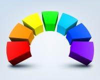 Abstracte 3d regenboog Royalty-vrije Stock Afbeeldingen