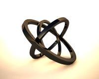 Abstracte 3D ringen Royalty-vrije Stock Afbeeldingen