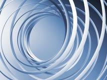 Abstracte 3d spiraalvormige achtergrond Stock Afbeelding