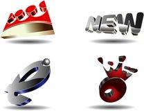 Abstracte 3D symbolen. vector illustratie