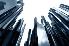 Abstracte 3d wolkenkrabbers Stock Fotografie
