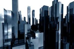 Abstracte 3d wolkenkrabbers Royalty-vrije Stock Foto