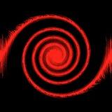 Abstracte 3d zwarte en rode achtergrond Stock Afbeeldingen