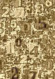 Abstracte aantallen royalty-vrije illustratie