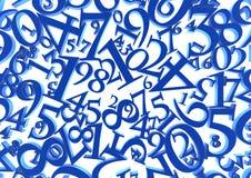 Abstracte aantallenachtergrond Stock Afbeeldingen