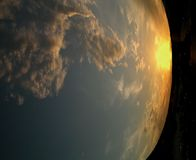 Abstracte Aarde Stock Afbeelding