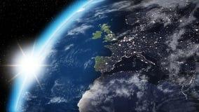 Abstracte aarde van ruimte Royalty-vrije Stock Afbeeldingen