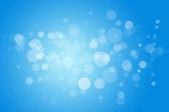 Abstracte achtergrond blauwe bokehcirkels Stock Afbeelding