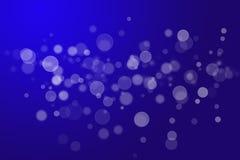Abstracte achtergrond blauwe bokehcirkels Stock Foto's