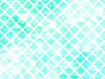 Abstracte achtergrond - blauwe en groene gradiënt met diamantenpatroon Stock Foto's