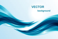 Abstracte achtergrond - blauwe golf Royalty-vrije Stock Afbeeldingen