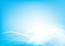 Abstracte achtergrond blauwe golfkromme en de vector van het verlichtingselement royalty-vrije illustratie