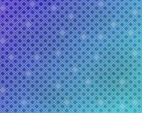 Abstracte achtergrond - blauwe gradiënt met diamantenpatroon Stock Foto