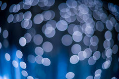 abstracte achtergrond Bokeh In de schaduw gestelde hoeken Blauw Stock Foto's