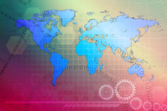 Abstracte achtergrond, concept wereld Royalty-vrije Stock Foto