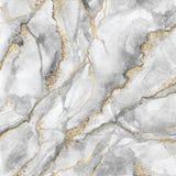 Abstracte achtergrond, creatieve textuur van wit marmer met gouden aders, artistieke verfmarmering, kunstmatige modieuze steen vector illustratie