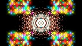 Abstracte achtergrond, de creatieve futuristische caleidoscoop van de stijl magicbackdrop psychedelische fantasie stock illustratie