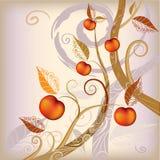 Abstracte achtergrond de herfstboom Royalty-vrije Stock Afbeeldingen