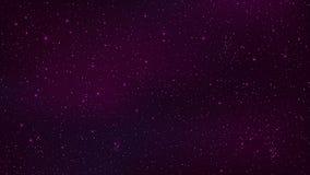 abstracte achtergrond De mooie sterrige hemel is purper De sterrengloed in volledige duisternis Fantastische melkweg Open plek Ve stock illustratie