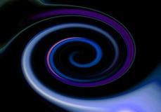 Abstracte achtergrond in de vorm van een wervelende gloeiende spiraal op een zwarte achtergrond stock afbeeldingen