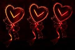 Abstracte achtergrond in de vorm van harten Stock Afbeeldingen
