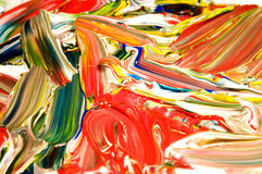 Abstracte achtergrond die met acryl wordt gemaakt Stock Afbeeldingen