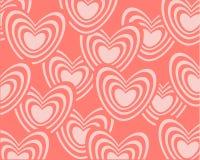 Abstracte achtergrond die uit reeks harten bestaan vector illustratie