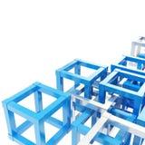 Abstracte achtergrond die van kubusfragmenten wordt gemaakt Royalty-vrije Stock Afbeeldingen
