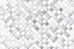 Abstracte achtergrond die van kubussen wordt gemaakt 3D Illustratie Stock Afbeeldingen
