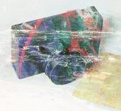 abstracte achtergrond Dubbele blootstelling Royalty-vrije Stock Afbeeldingen