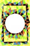 Abstracte achtergrond en witte cirkel Stock Foto