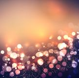 abstracte achtergrond Feestelijke elegante abstracte achtergrond met bokehlichten Royalty-vrije Stock Foto