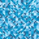 Abstracte achtergrond - gekleurd vectorpatroon in blauwe kleuren voor presentatie, boekje stock illustratie