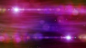 Abstracte achtergrond gekleurde deeltjes en gloedmotie Stock Afbeelding
