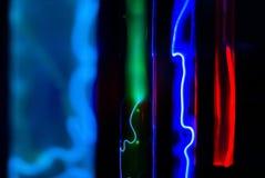 Abstracte achtergrond - gloed van inerte gassen in vacuümflessen royalty-vrije stock afbeelding