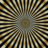 Gouden Starburst. royalty-vrije illustratie