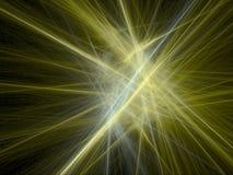 Abstracte achtergrond - gouden stralen Stock Afbeelding