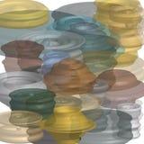 Abstracte achtergrond grafische geometrische driedimensionele vormengrafiek stock illustratie
