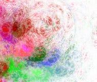 Abstracte achtergrond in groene en rode kleuren Stock Afbeelding