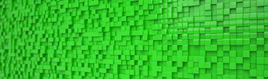 Abstracte achtergrond - groene kubussen - Stock Afbeeldingen