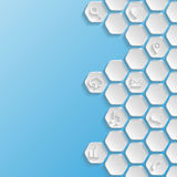 abstracte achtergrond Het concept van het Web Royalty-vrije Stock Afbeeldingen