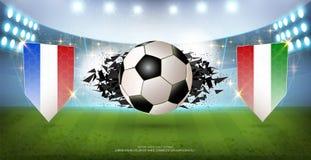 Abstracte Achtergrond, het Vectoreffect van de Bannerexplosie, Realistische 3d bal met vlagelement vector illustratie