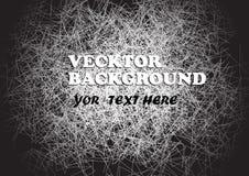 Abstracte achtergrond in het zwart-grijs-wit van de grungestijl Vector illustratie Stock Illustratie