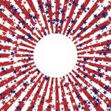 Abstracte achtergrond in kleuren van Amerikaanse vlag Onafhankelijkheidsdag of van de Veteranendag themaachtergrond Stock Foto's