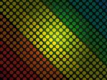 Abstracte achtergrond - kleurrijk cirkelspatroon met zwarte grunge Royalty-vrije Stock Afbeelding