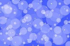 Abstracte achtergrond kleurrijke geschilderde borstel blauwe rondes Stock Afbeeldingen