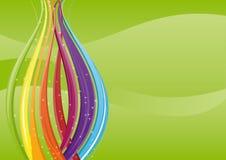 Abstracte achtergrond - kleurrijke golven Stock Afbeeldingen